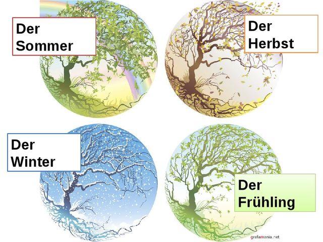 Der Sommer Der Frühling Der Winter Der Herbst