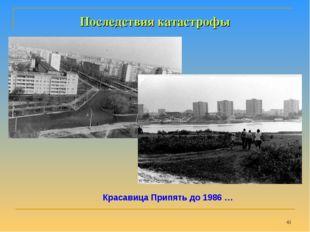 * Последствия катастрофы Красавица Припять до 1986 …