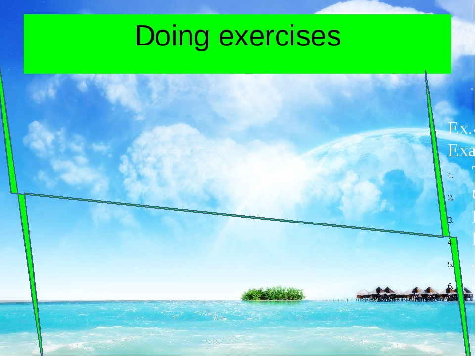 Doing exercises Ex.4,p.13 Example They are not from Britain Gabriela and Paol...
