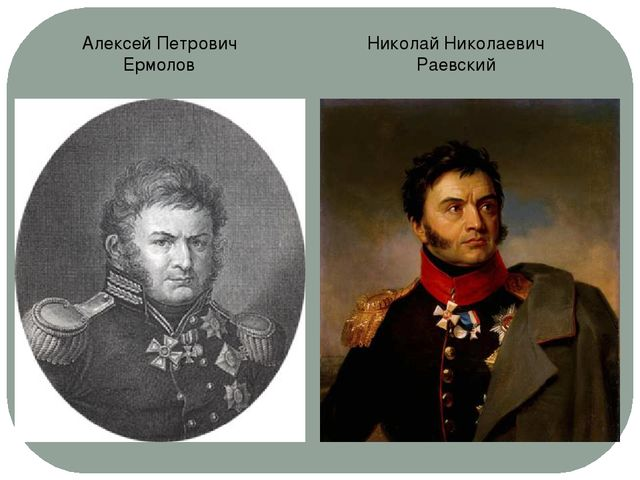 Алексей Петрович Ермолов Николай Николаевич Раевский