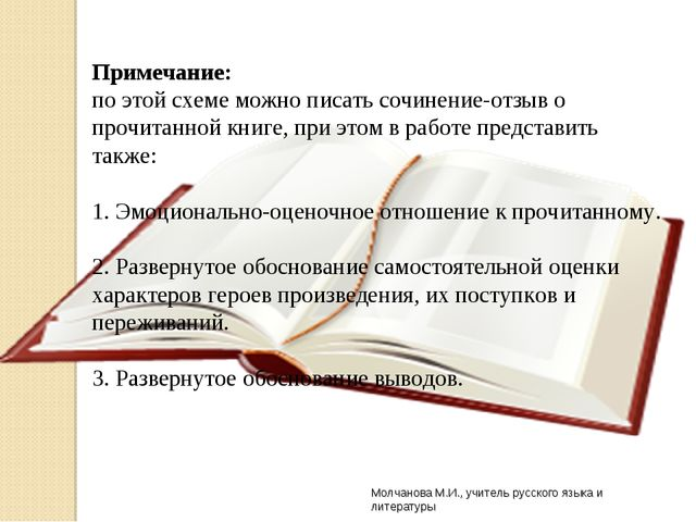 Молчанова М.И., учитель русского языка и литературы Примечание: по этой схеме...