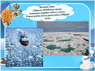 Большая часть Северного Ледовитого океана постоянно покрыта льдом и снегом.