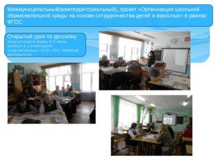 Межмуниципальный(межтерриториальный), проект «Организация школьной образовате
