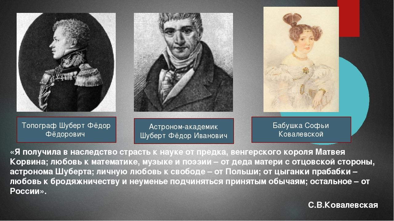 «Я получила в наследство страсть к науке от предка, венгерского короля Матвея...