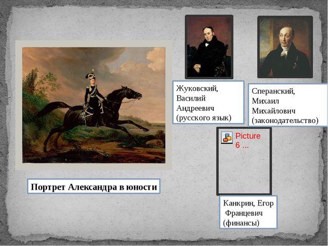 Портрет Александра в юности Жуковский, Василий Андреевич (русского язык) Канк...