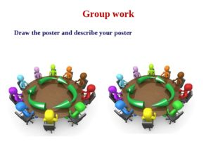 Group work Draw the poster and describe your poster