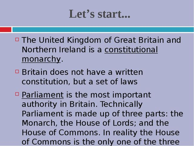 Let's start... The United Kingdom of Great Britain and Northern Ireland is a...