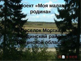 Проект «Моя малая родина» Поселок Мортка Кондинский район Тюменской области