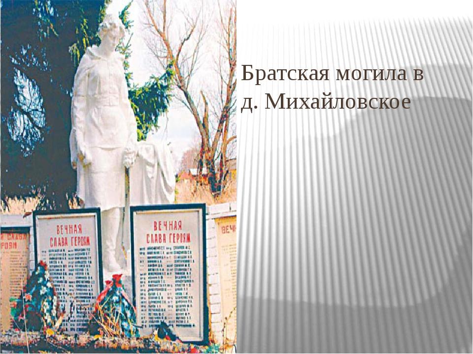 Братская могила в д. Михайловское