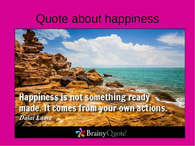 Quote about happiness