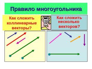 Правило многоугольника Как сложить коллинеарные векторы?