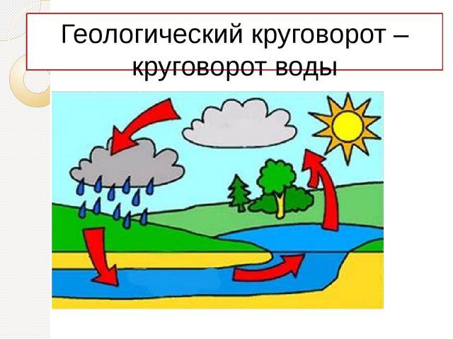 Геологический круговорот – круговорот воды