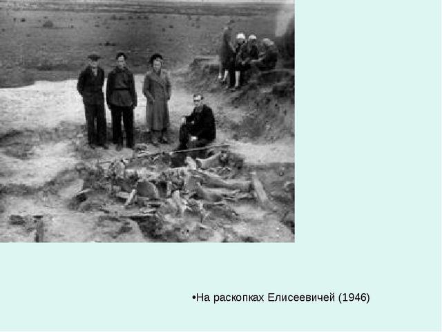На раскопках Елисеевичей (1946)