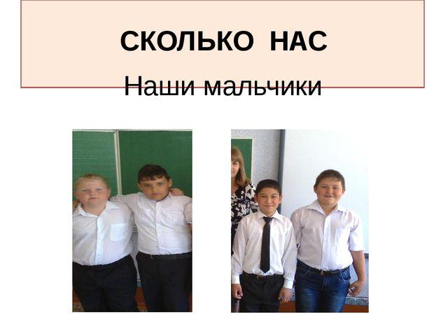 Наши мальчики СКОЛЬКО НАС