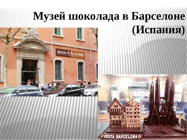 Музей шоколада в Барселоне (Испания)