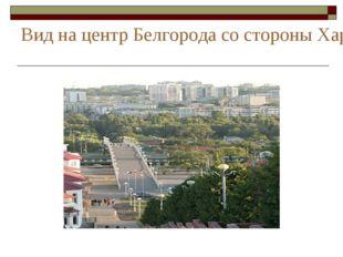 Вид на центр Белгорода со стороны Харьковской горы