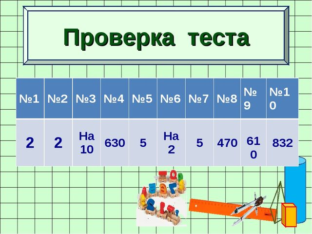 Проверка теста №1№2№3№4№5№6№7№8№9№10 22На 106305На 25470 610...