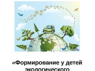 «Формирование у детей экологического миропонимания».