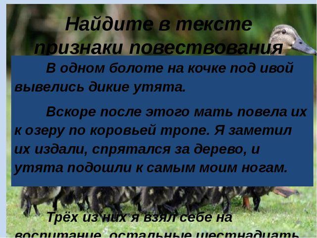 Найдите в тексте признаки повествования В одном болоте на кочке под ивой вы...