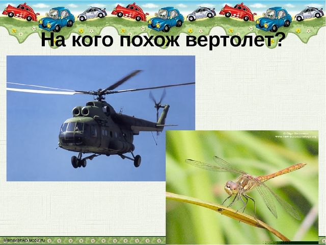 На кого похож вертолет?