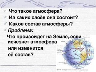 Что такое атмосфера? Из каких слоёв она состоит? Каков состав атмосферы? Про