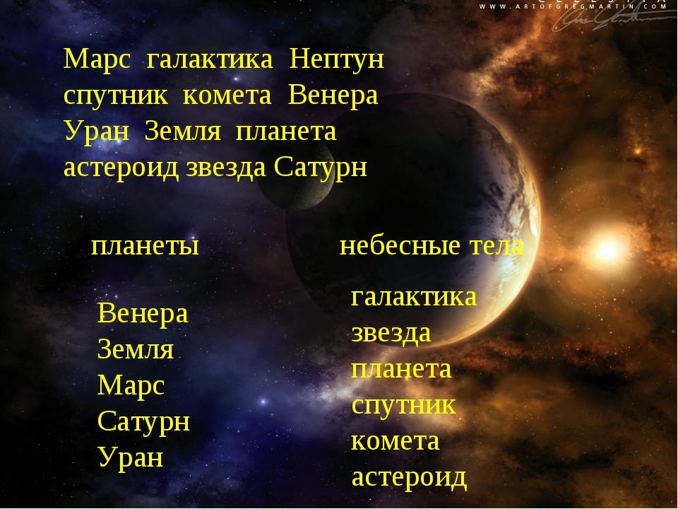 Марс галактика Нептун спутник комета Венера Уран Земля планета астероид звезд...