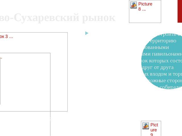 Ново-Сухаревский рынок К. Мельников предложил застроить всю отведённую под ры...