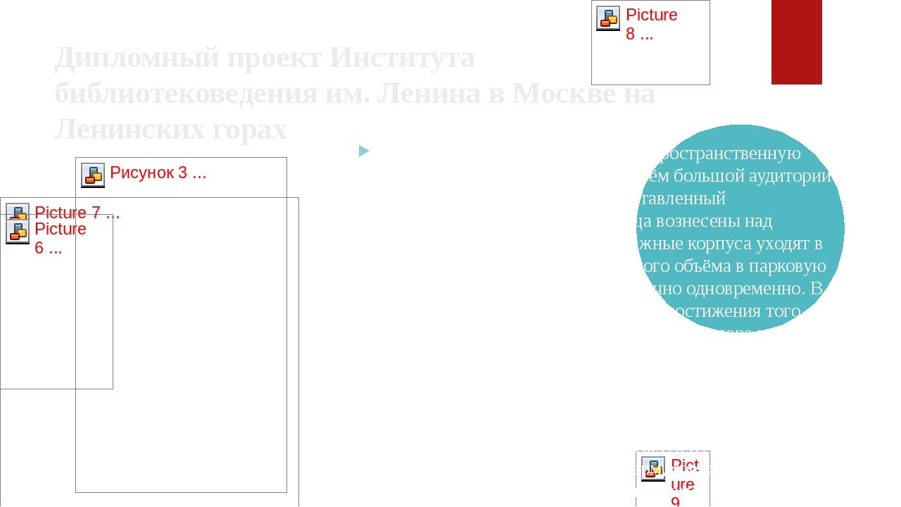 Дипломный проект Института библиотековедения им. Ленина вМосквена Ленинских...
