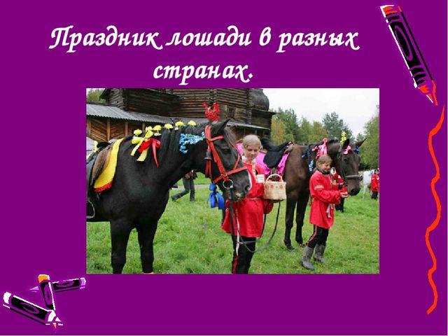 Праздник лошади в разных странах.