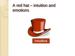 A red hat – intuition and emotions