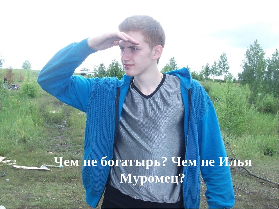 Чем не богатырь? Чем не Илья Муромец?