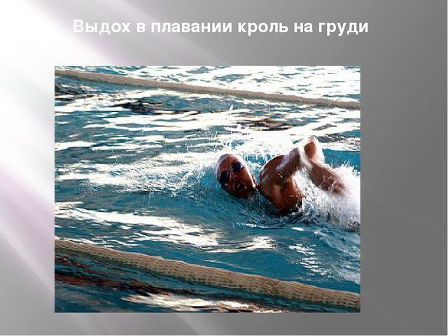 Выдох в плавании кроль на груди