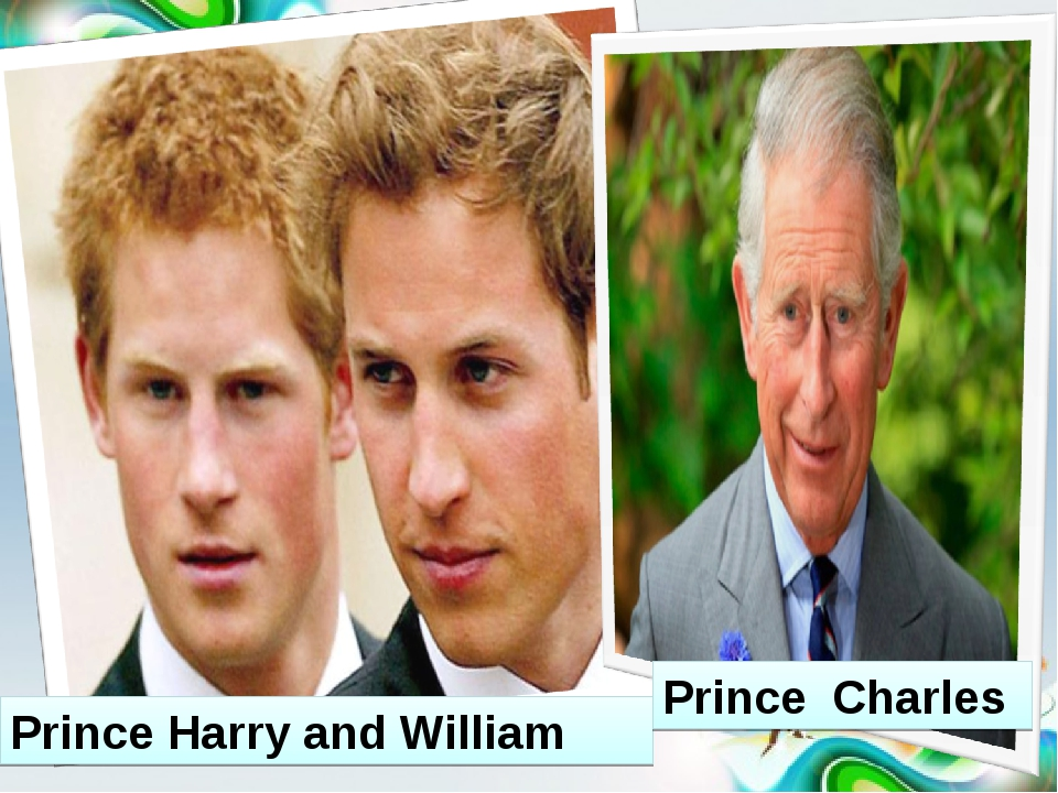 Prince Harry and William Prince Charles