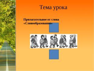 Тема урока Прилагательное от слова «Словообразование» ProPowerPoint.Ru