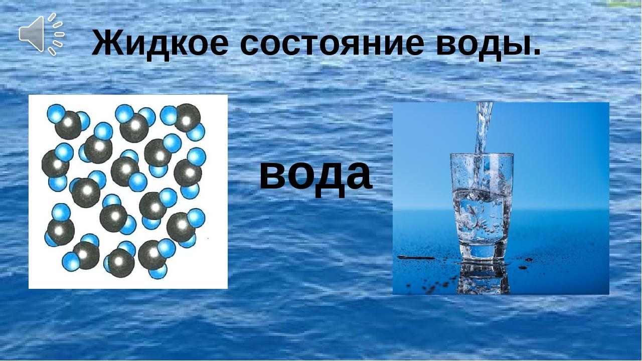 вода Жидкое состояние воды.