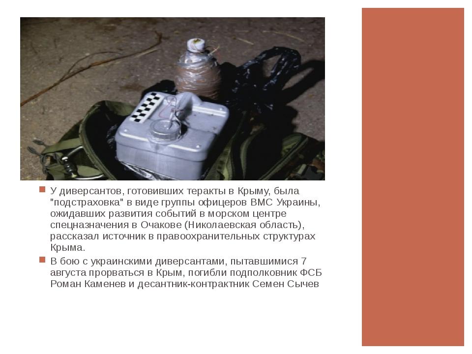 """У диверсантов, готовивших теракты в Крыму, была """"подстраховка"""" в виде группы..."""