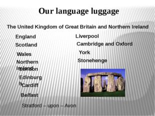 Our language luggage The United Kingdom of Great Britain and Northern Ireland