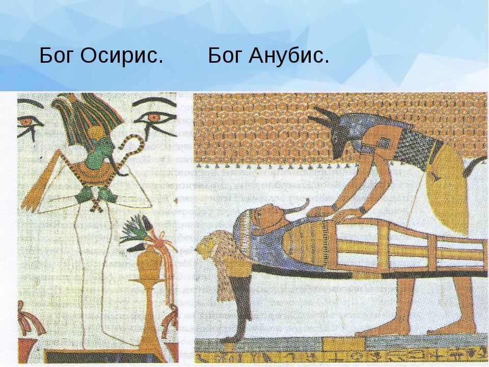 Бог Осирис. Бог Анубис.