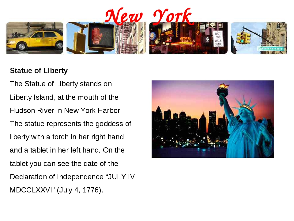New York Statue of Liberty The Statue of Liberty stands on Liberty Island, at...