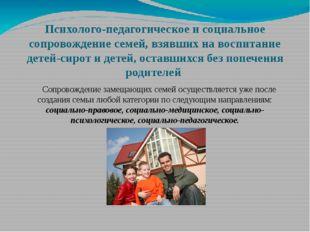 Психолого-педагогическое и социальное сопровождение семей, взявших на воспита