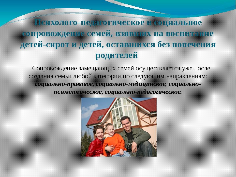 Психолого-педагогическое и социальное сопровождение семей, взявших на воспита...