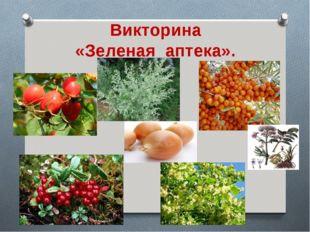 Викторина «Зеленая аптека».