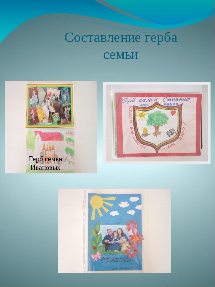 Составление герба семьи Герб семьи Ивановых