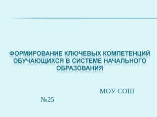 МОУ СОШ №25 2010г.
