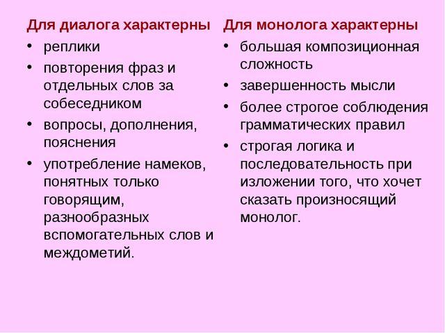 Для диалога характерны реплики повторения фраз и отдельных слов за собеседник...