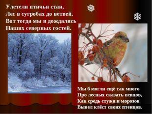 Улетели птичьи стаи, Лес в сугробах до ветвей. Вот тогда мы и дождались Наших