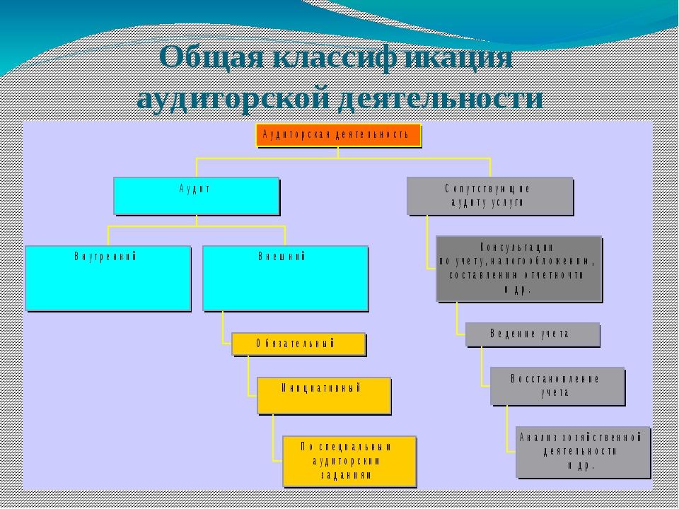 Общая классификация аудиторской деятельности