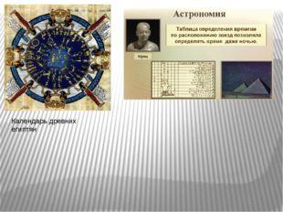 Календарь древних египтян