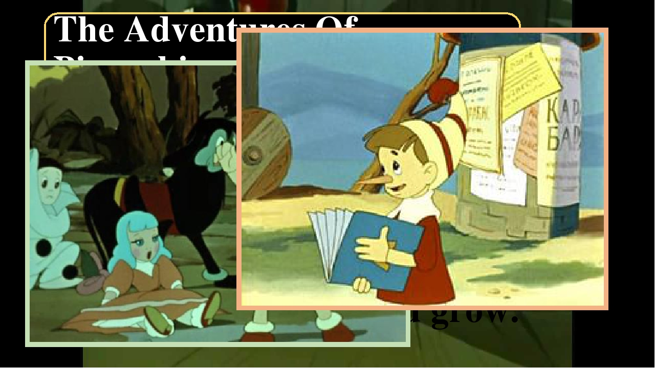 The Adventures Of Pinocchio On his way home Pinocchio met Fox Alice and Cat B...