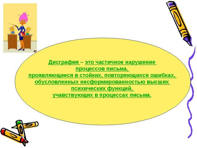 Презентация логопеда выступления на МО учителей начальных классов  Дисграфия это частичное нарушение процессов письма проявляющееся в стойких